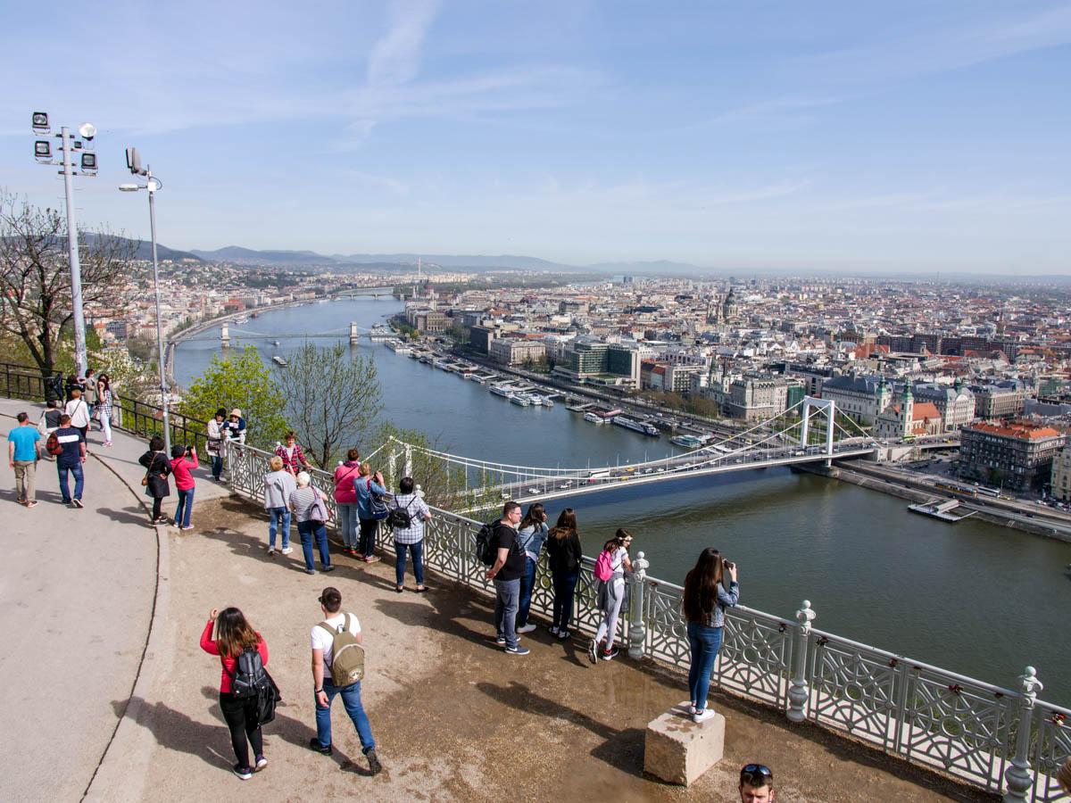 Výhľad z citadely v Budapešti