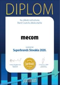 Mecom získal ocenenie Slovak Superbrands Award 2020