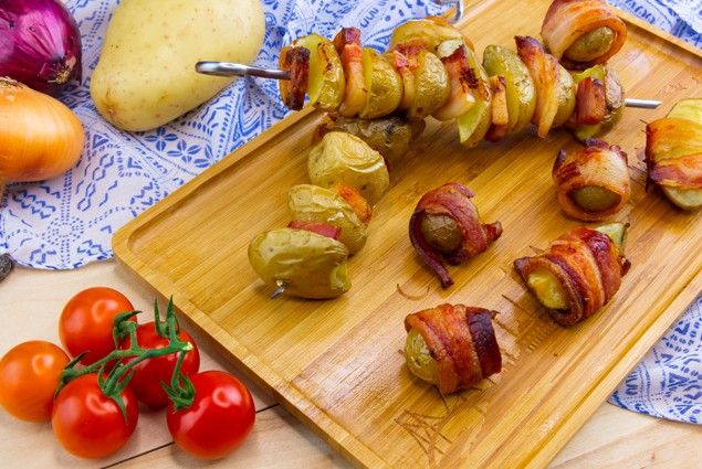 Zemiaky v cesnakovej slaninke