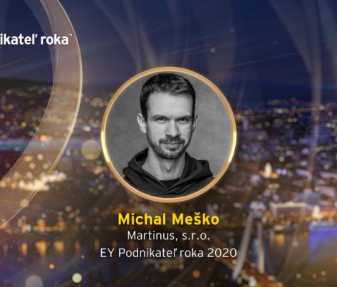 EY Podnikateľom roka 2020 sa stal Michal Meško z Martinusu