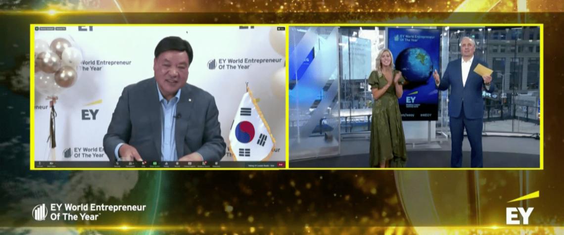 EY Svetovým podnikateľom roka 2021 sa stal juhokórejský podnikateľ JungJin SEO